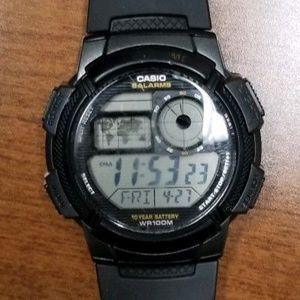 Casio Chronograph 5 Alarms World Time AE3000W-1AV